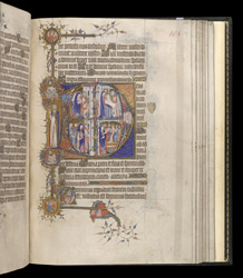 Historiated Initials To Lauds With Scenes From The Life Of Christ, In The Egerton Bohun Psalter-Hours